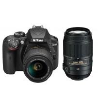 Nikon D3400 + 18-55mm VR II.