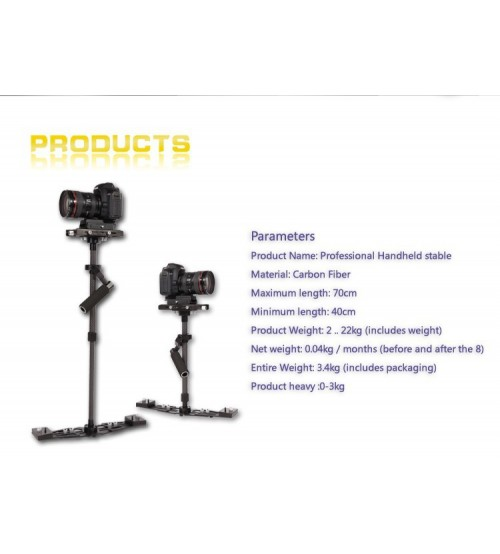 Hpusn Steadicam Carbon X7 II for Video Camera